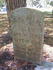 Wilda Pearl Killen (Apr 10 1896 - Sep 9 1914): closeup