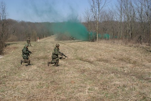ROTC Cadets during Operation Huskie Thaw 2005.