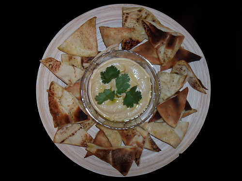 Hummus served with home-made Pita Chips