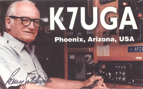 Ham Radio QSL Cards - Barry Goldwater
