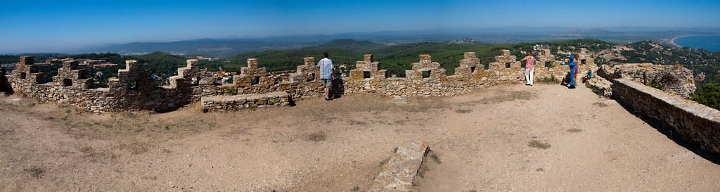 Begur Castle Panorama