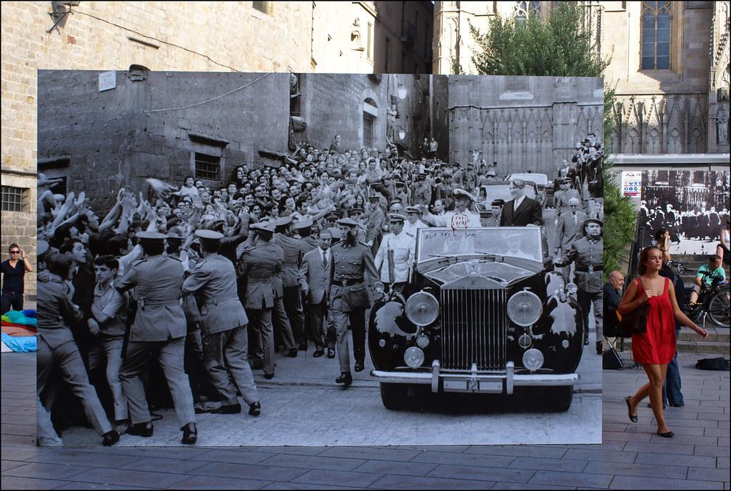 Franco visits Barcelona