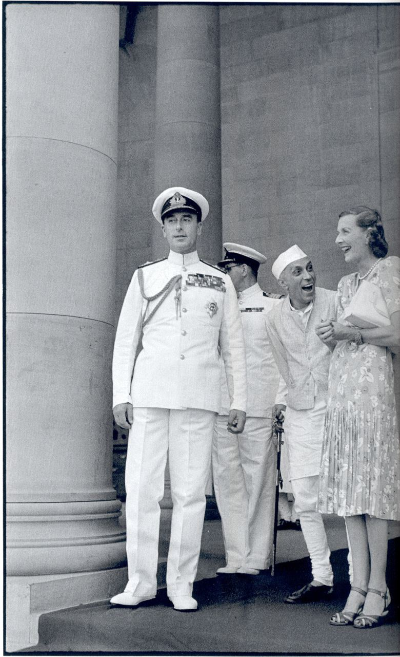 Nehru the clown with Edwina Mountbatten