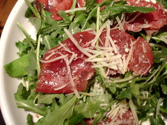rocket & bresaola salad