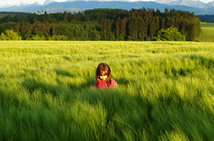 Girl in a field of grass I