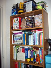 upstairs bookcase upper