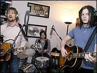 Brendan Benson & Jack White in the studio