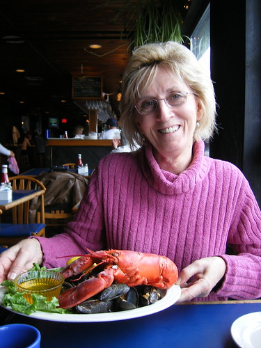 Mom and Lobster at the Sail Loft