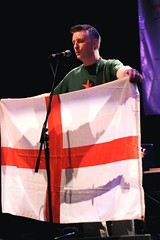 Billy Bragg flying the flag