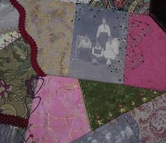 Croquet Cushion -  more seam embellishments