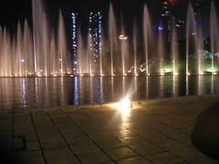 Fountain behind Petronas twin towers