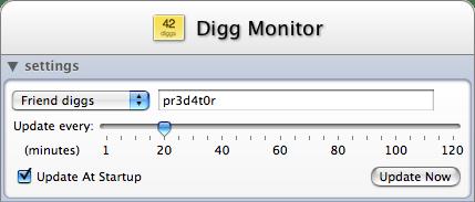 Diggmonitor trigger