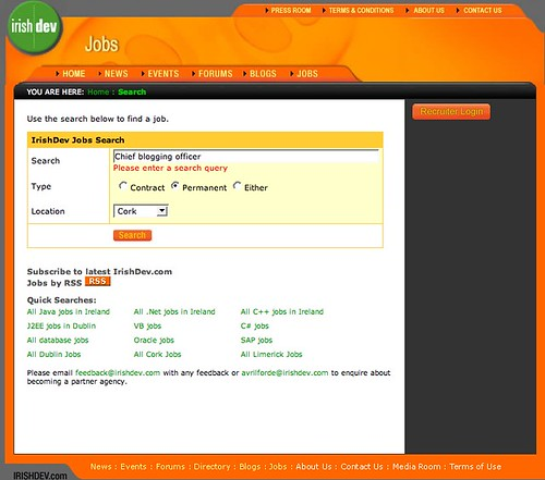 IrishDev.com job search