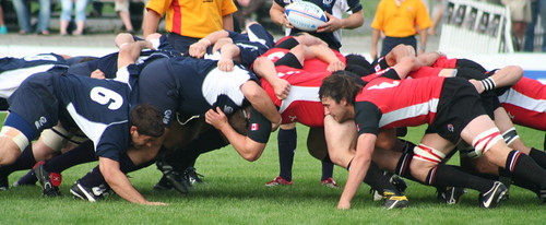 Rugby, XXVIII: Scrum