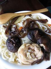 chicken mushroom noodles