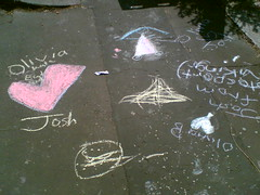 The writing's on the pavement