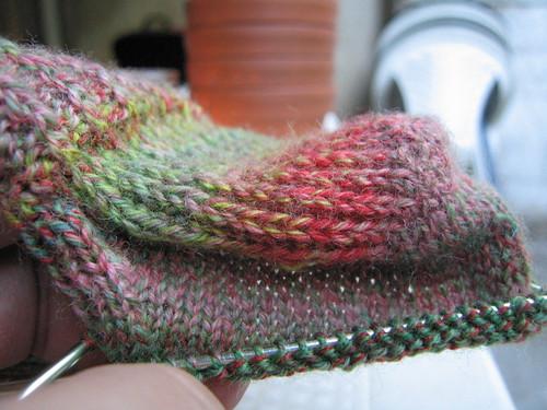 sock heel turn