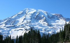 Mount Rainier from parking lot