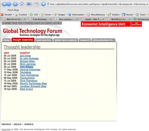 Economist Intelligence Unit links to me!