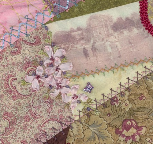Croquet Cushion  - Flower Cluster