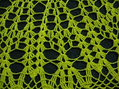 Torchlight doily close up