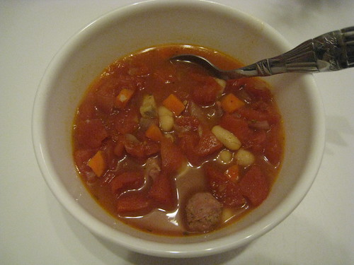 Hearty Tomato, Sausage and Bean Stew
