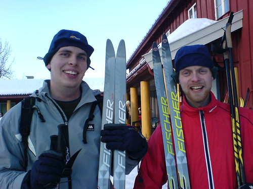 Anders and Johannes is out skiing