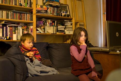 Louis en Zelie kijken Disney
