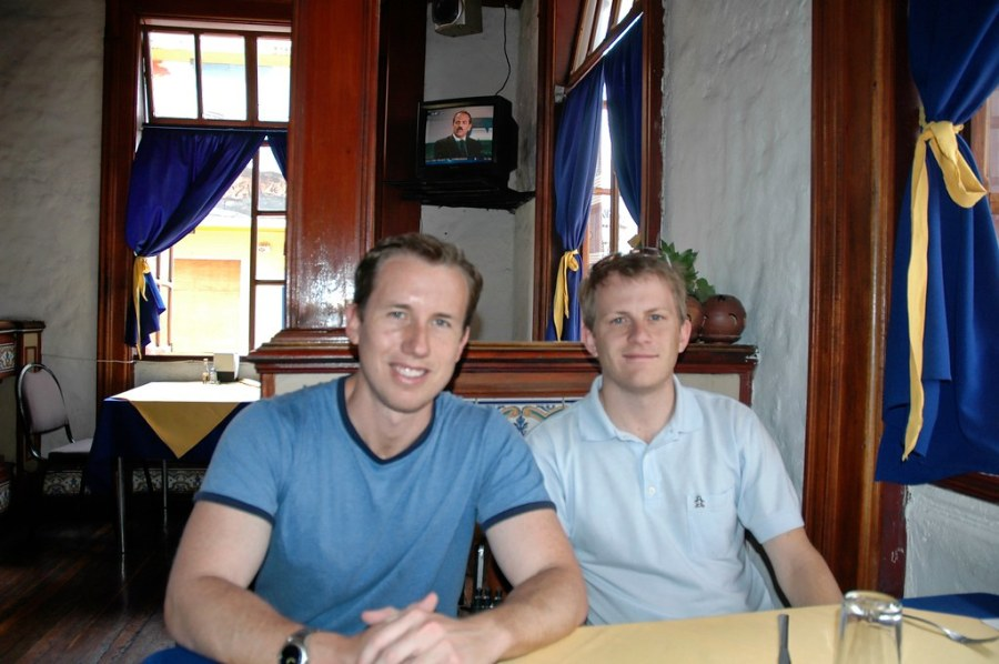 Trey and Will at Lunch