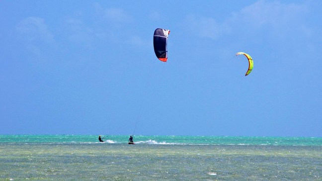 Kiteboarders at Curry Hammock State Park