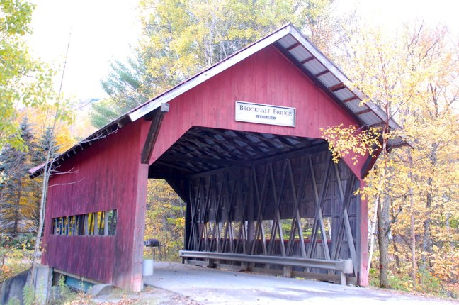 One of several covered bridges in Vermont
