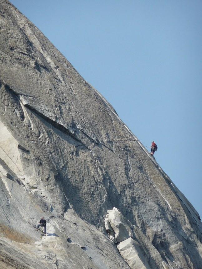 Climbers on Lembert Dome
