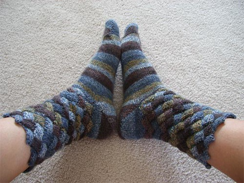basketweave socks