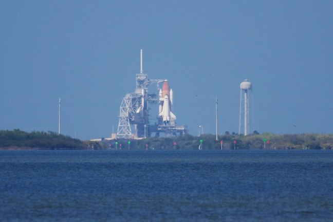 STS-133 Discovery on Launch Pad 39A