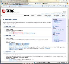 Archives Page of XCache site with link target