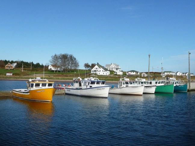 Fishing boats in the Gulf of St. Lawrence