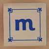 Block Lowercase Letter m