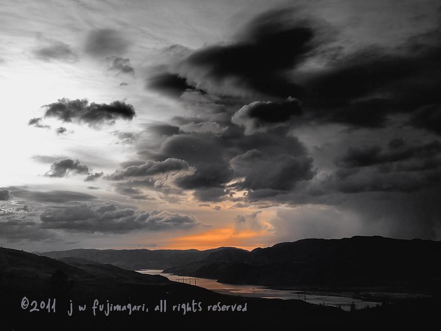 Kamloops Lake Sunset - Subdued