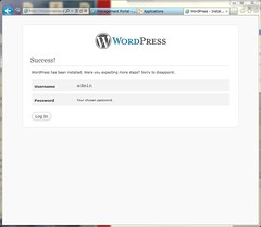 Success Installation WordPress