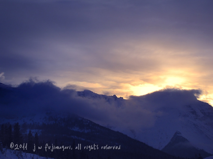Sunset Over Kicking Horse Pass