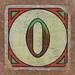 Vintage brick letter O