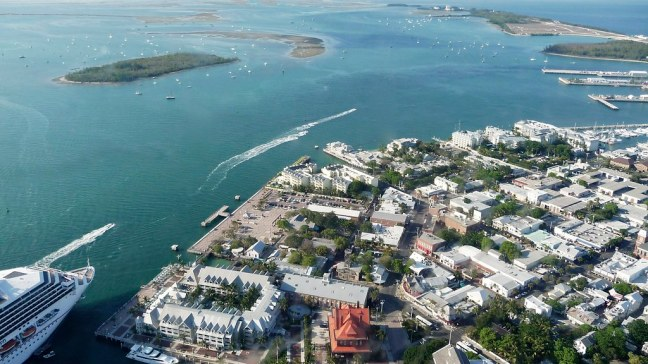 View of Key West from above
