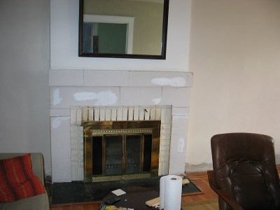 Fireplace template