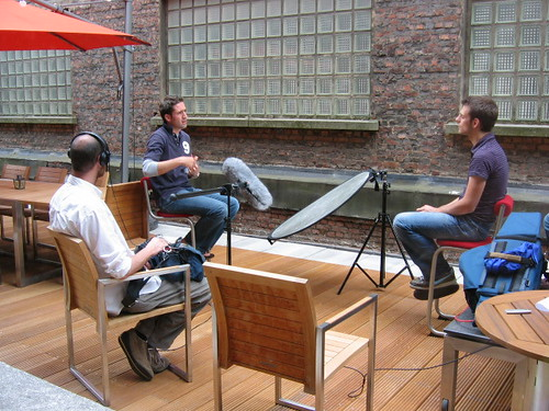 Interview op het terras