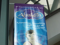 Advert from Aladdin, testimonial for Cinderella!