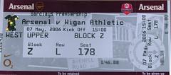 Arsenal versus Wigan Athletic