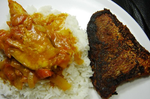 Fish curry and fish fry