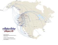 Alaska Air route map