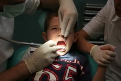 Boy Receives Dental Care