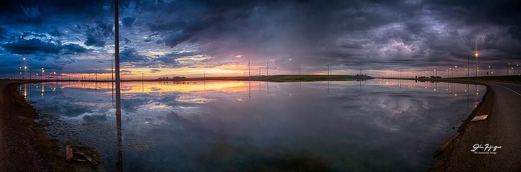 Sunrise Lagoon Pano